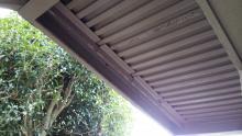 二階玄関 ポーチの補強工事 1階から2階を見上げた写真です 補強後