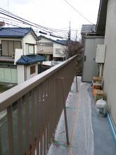 二階玄関 ポーチの補強工事 塗装工事